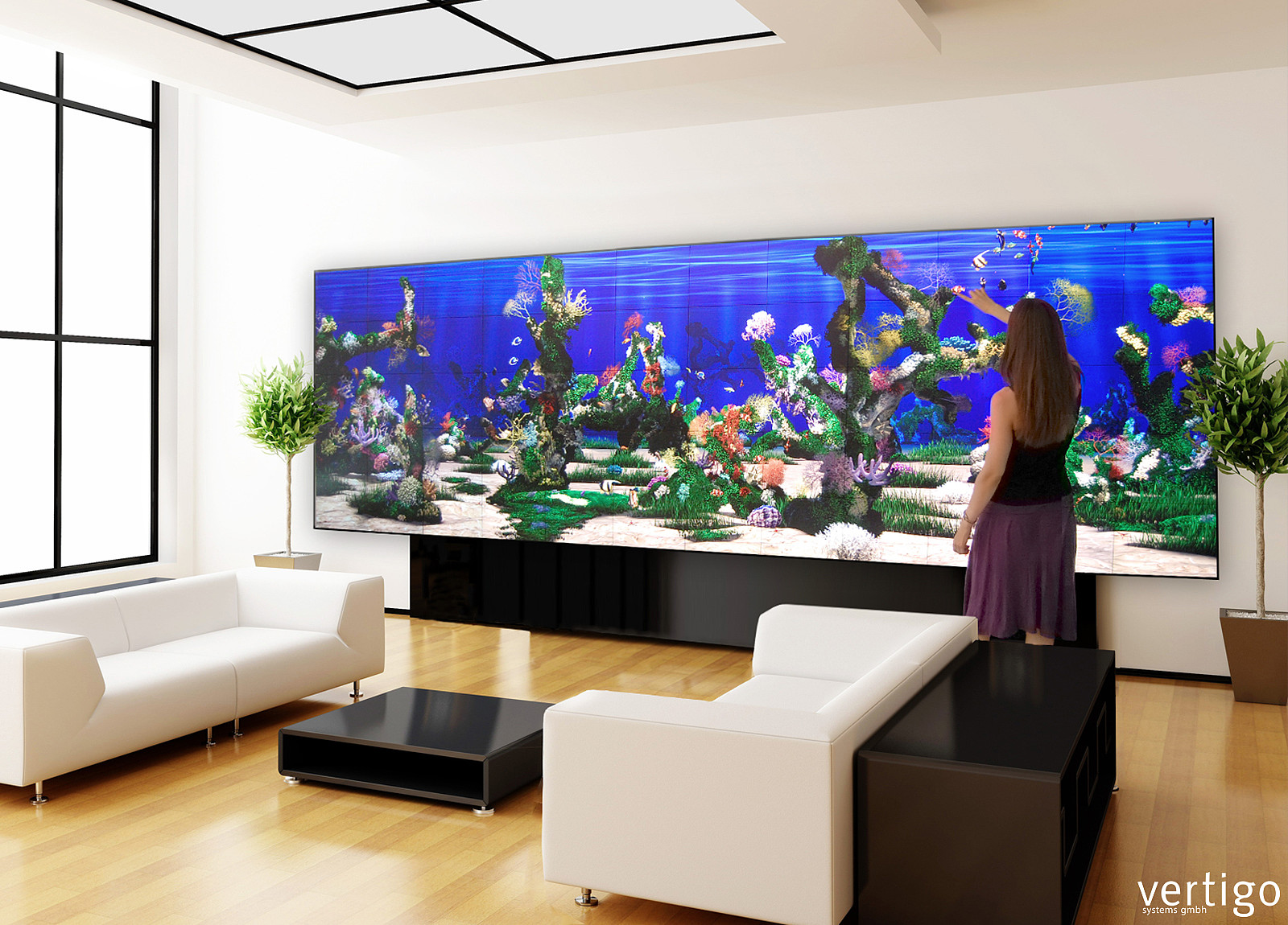 Living wall interaktive w nde vertigo systems gmbh - Aquarium in der wand ...