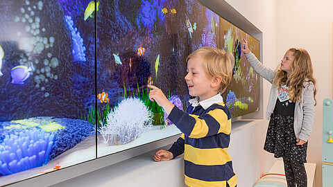 3D Aquarium für Kinder in Praxis