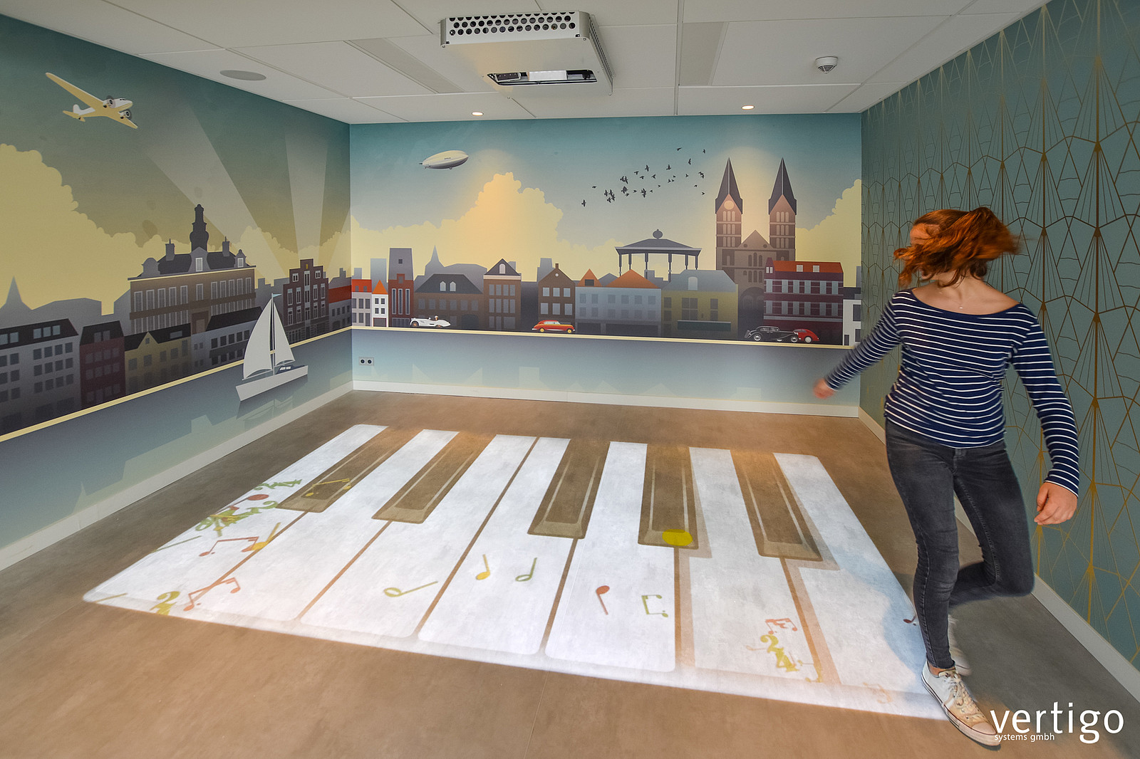 installation example for interactive floor