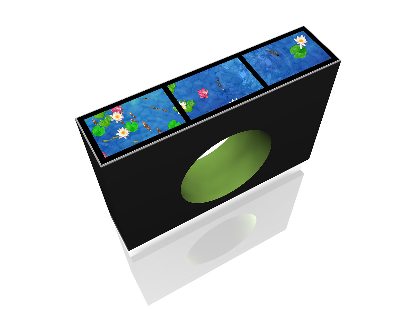 living aquarium lebensechtes virtuelles aquarium vertigo systems gmbh. Black Bedroom Furniture Sets. Home Design Ideas