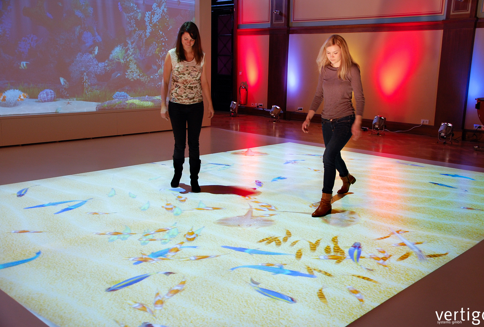 floor projection games by vertigo systems