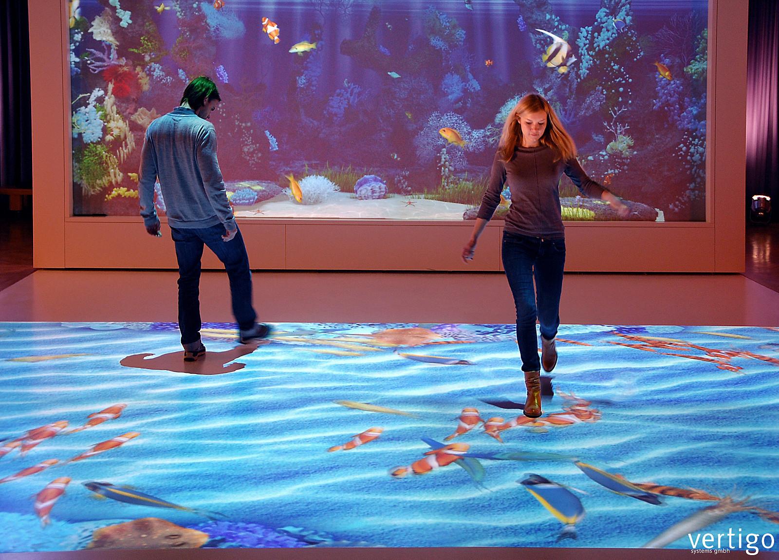 Living aquarium lebensechtes virtuelles aquarium for Boden aquarium
