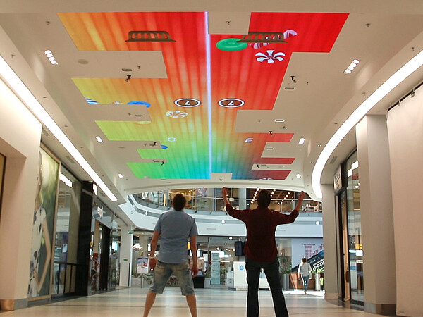 LED ceiling in shopping mall