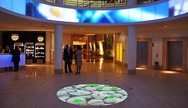 hotel berlin berlin foyer goes interactive vertigo systems gmbh. Black Bedroom Furniture Sets. Home Design Ideas