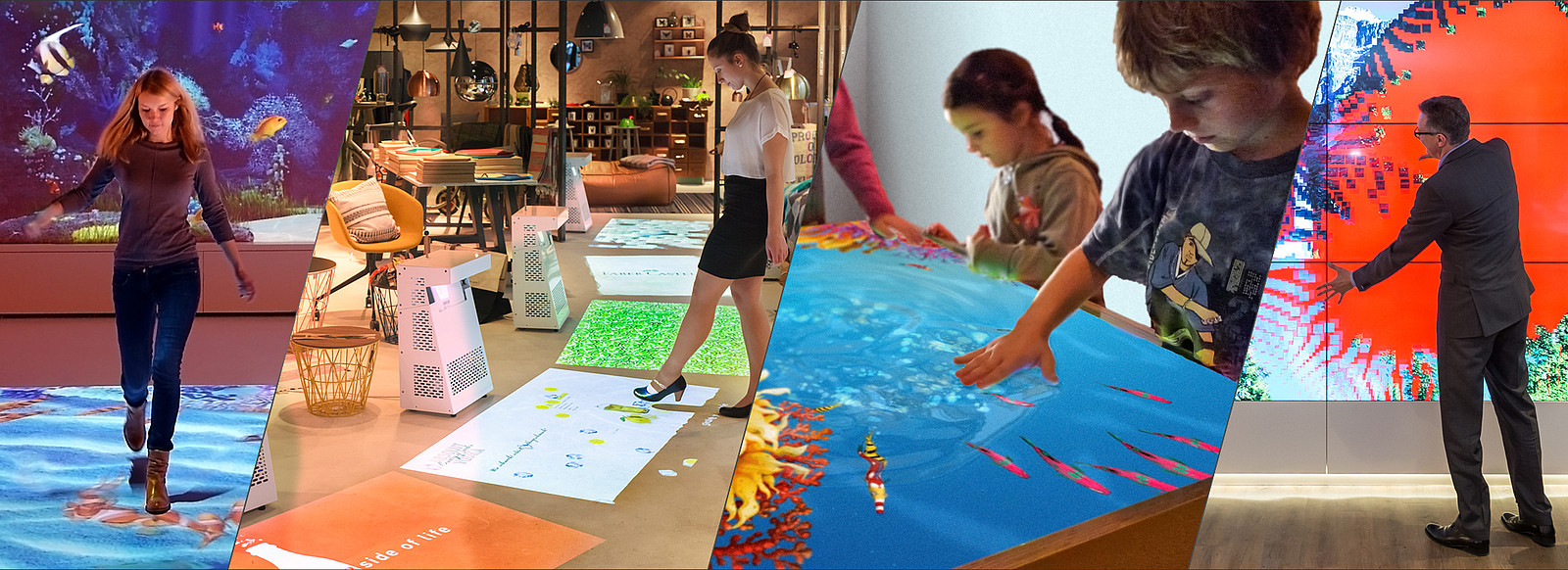 interactive media installations based on ›living surface‹