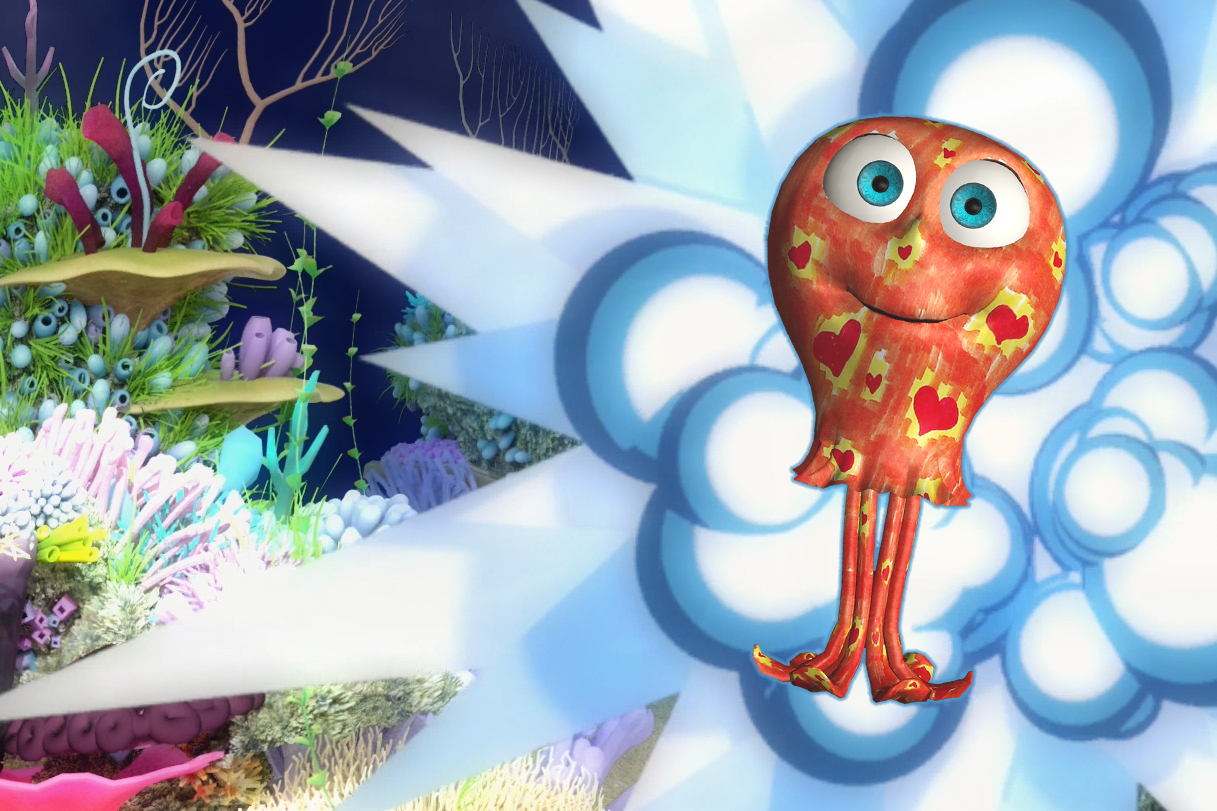 imagination becomes visibile, a 3D animated interactive creature is coming to life