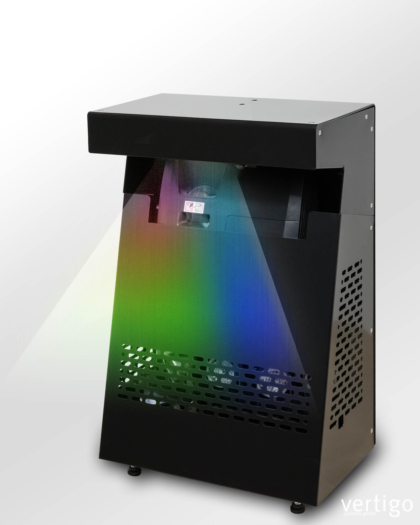 mobile projection box for interactive floors, version black