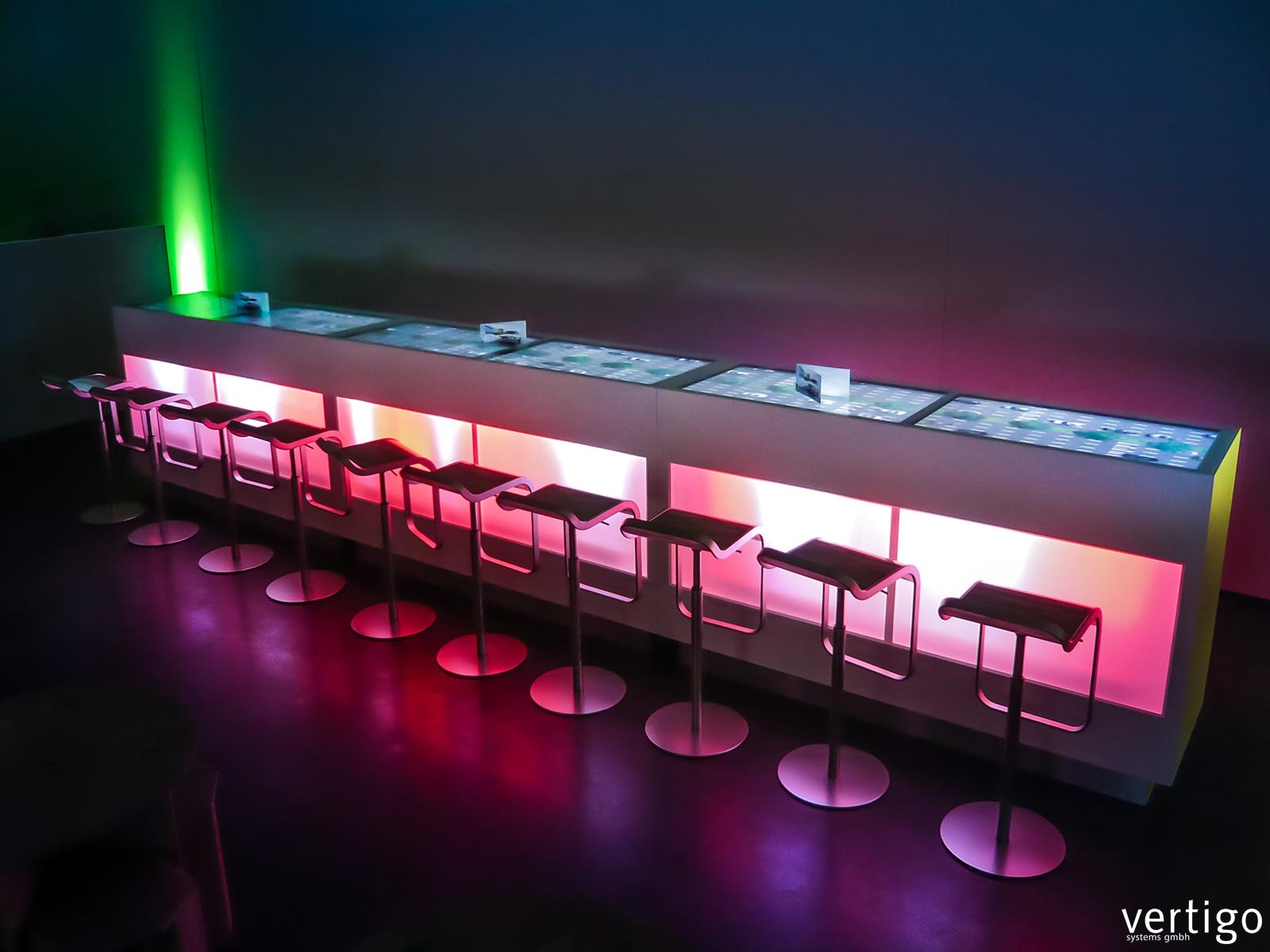 Living Counter Interactive Bar Desk Vertigo Systems Gmbh